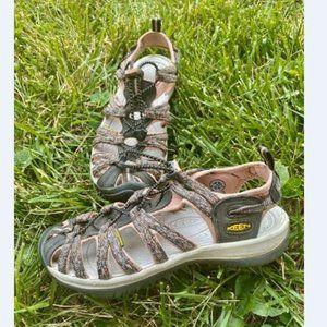 KEEN Women's Whisper Gray Pink Sport Sandals 8